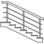 Лестничное ограждение через 2 ступени