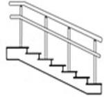 Лестничное ограждение для инвалидов